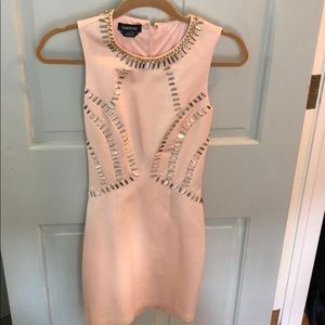 Adorable light pink bodycon dress with beading